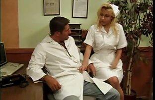 હોર્ની ડtorક્ટર દ્વારા મોટા ટgedગ સોનેરી નર્સ બાન્ડેડ