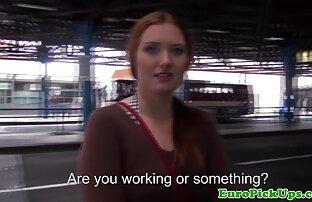 કલાપ્રેમી સોનેરી યુરોપિયન હાર્ડકોર જાહેર વાસ્તવિકતા